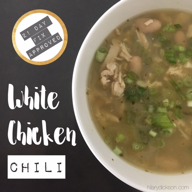 White Chicken Chili {21 Day Fix Approved}